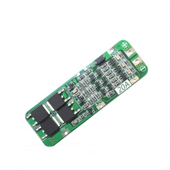 3 string 12V18650 lithium battery protection board 12.6V anti-overcharge and over discharge peak 20A overcurrent protection