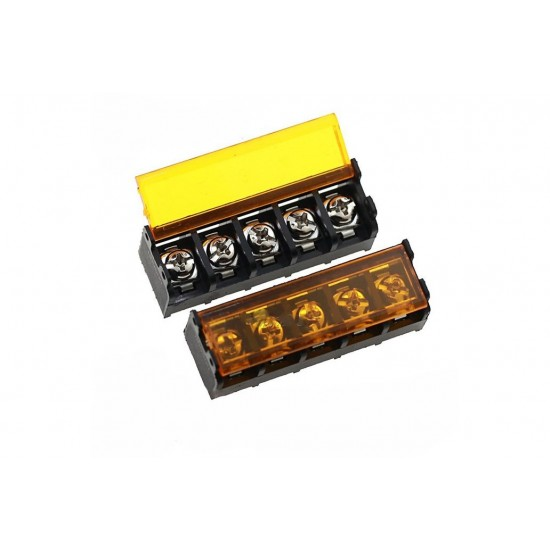 Barrier Screw Terminal Block Connector 5Pin with Safety Cover