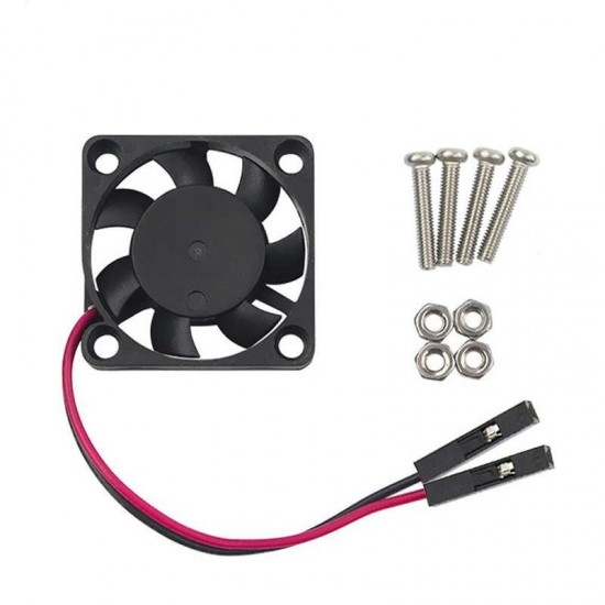DC 5V Brushless CPU Cooling Fan with Screws for Raspberry Pi 3B/ 2B/ B plus