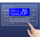 Smart mirror bathroom mirror touch screen 12v24vLED date temperature time display defogging touch switch