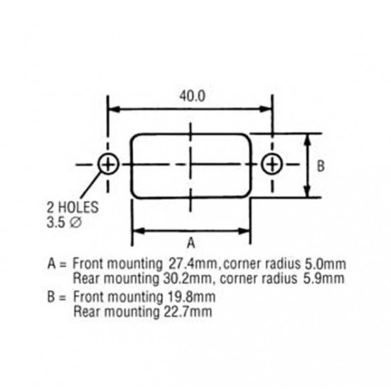 AC Power Connector Chassis Mount