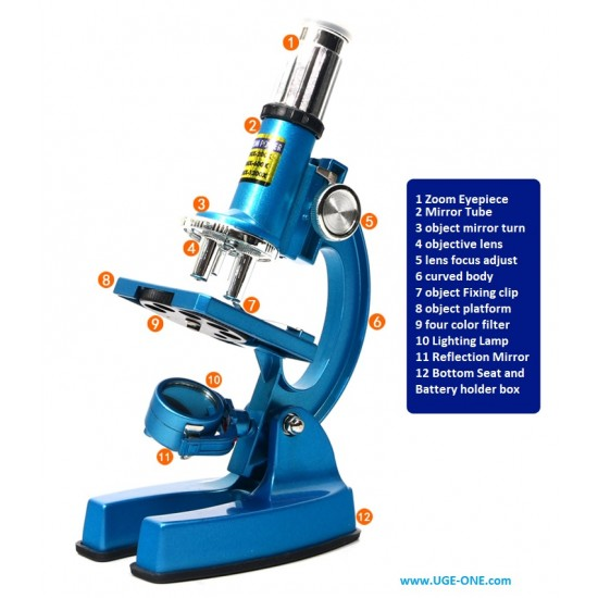 COMPLETE MICROSCOPE SET WITH METAL DIE CAST BODY For Science Lover and young inventors