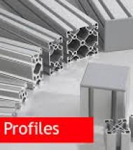 Aluminium slot Profile rails and Accessories