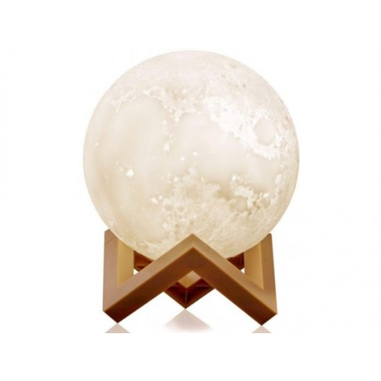 15cm Rechargeable 3D Moon Night Lamp Light Decor Creative Gift with Touch Sensor