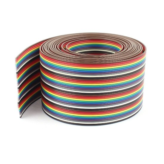 64 Pin Rainbow Color Flexible Flat Power Ribbon Cable