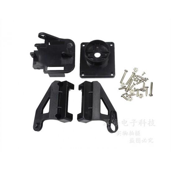 FPV Steering Wheel Pan/Tilt Head Camera Dual-axis Servo Mount