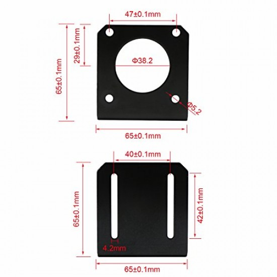 3D printer and CNC Holder Mounting Plate for Nema23 Stepper Motor (size 57)