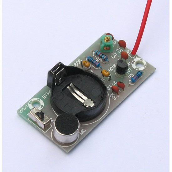 Simple FM wireless microphone transmitter module electronic DIY Kit