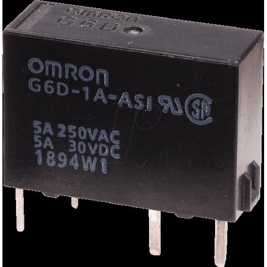 G6D-1A-ASI 12V Slim power PCB relay G6D 12 VDC, 1 N/O contact 5A