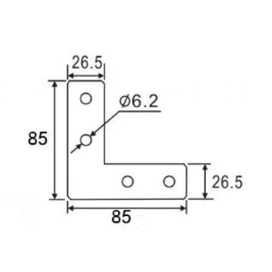 L Shape Connector Joint Bracket for 3030 Aluminum Profile