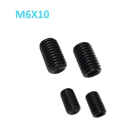 M6 x 10mm Set screw Concave End Black 12.9 grade alloy Steel