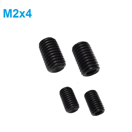 M2 x 4mm Set screw Concave End Black 12.9 grade alloy Steel