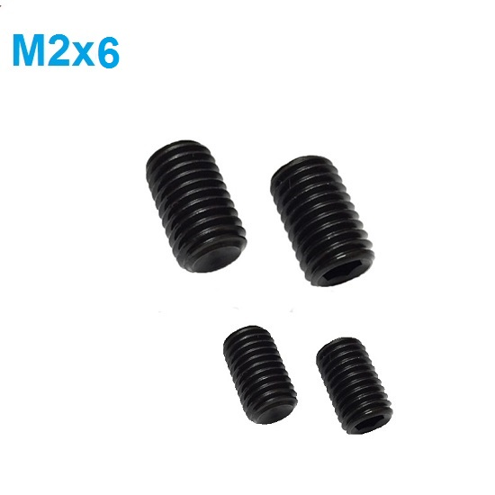 M2 x 6mm Set screw Concave End Black 12.9 grade alloy Steel