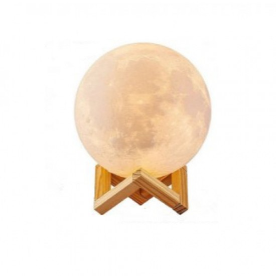 10cm Rechargeable 3D Moon Night Lamp Light Decor Creative Gift with Touch Sensor