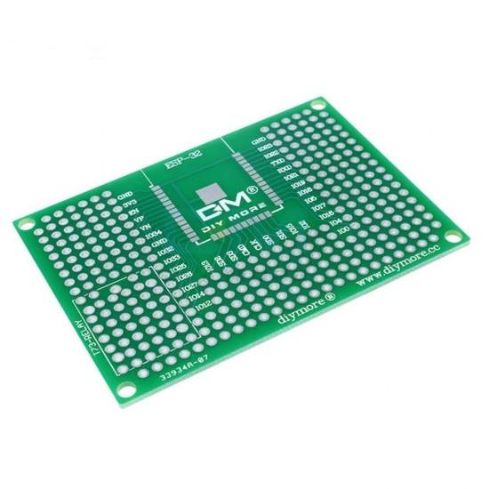Double-side Prototype PCB Breadboard 5X7CM For ESP8266 ESP-12E ESP-12F ESP32 ESP-32S WiFi Relay 50X70mm