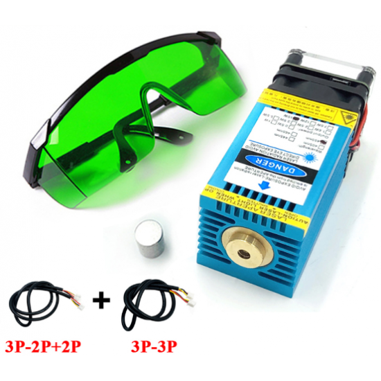 15w 450nm Blue Ray TTL Laser Focusing Module 15000mw   Can Cut 3mm Wood and engrave Stainless steel and anode colored aluminum surface