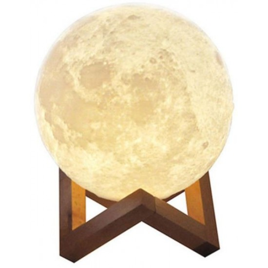 20cm Rechargeable 3D Moon Night Lamp Light Decor Creative Gift with Touch Sensor