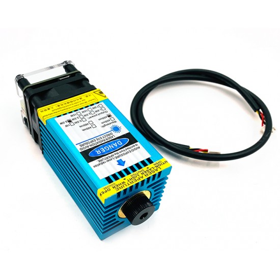 5.5w 450nm Blue Ray TTL Laser Focusing Module 5500mw | Can Cut 3mm Wood and engrave Stainless steel
