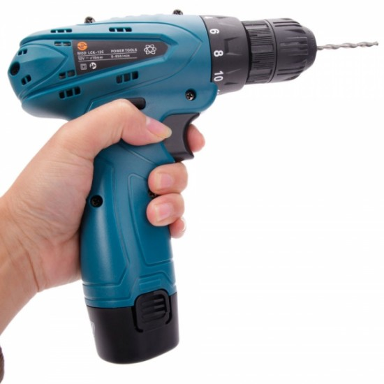 LCK-12C 12V Electric Screwdriver Rechargeable Lithium Battery Cordless Screwdriver Two-speed Power Tools
