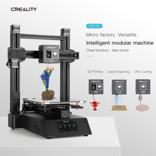 Creality3D CP-01 3 in 1 Modular 3D Printer laser engraving and CNC machine