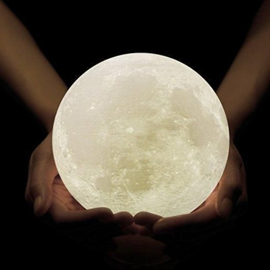 15cm Rechargeable 3D Moon Night Lamp 3D Moonlight  Light Decor Creative Gift with Touch Sensor