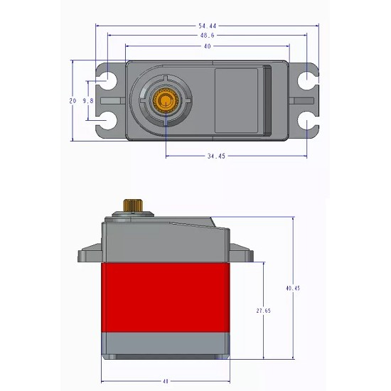 20KG Digital Steering Gear TD8120MG High Torque Default 90 Degrees -180 Degrees Universal Servo