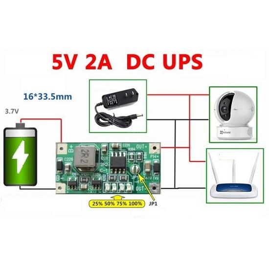 5V 2A DC UPS Uninterruptible Power Supply Module