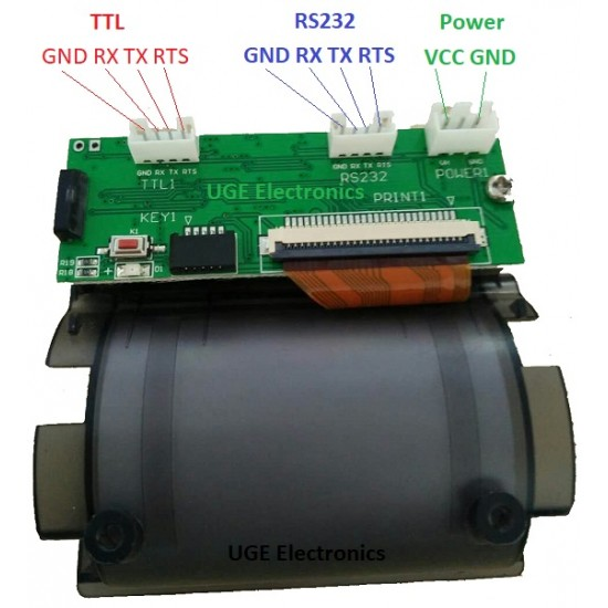 58mm Embedded Mini Thermal Printer Supports TTL/RS232 Serial Port Microcontroller Control