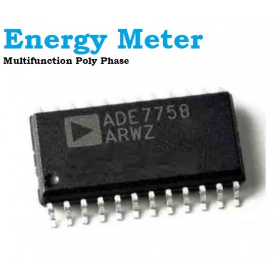 Energy Meter ADE7758 Poly Phase Multifunction IC