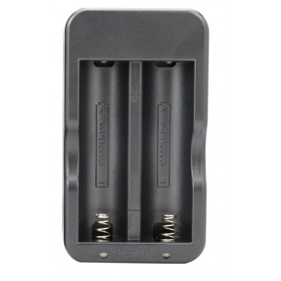 18650 Lithium Battery Charger 3.7V4.2V Charger Dual Slot Charged Light Flashlight Built-in Charger