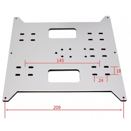 220 x 200 x 4MM Plate Hot Bed Support Aluminum Surface Acrylic Core Composite Panel  for 3d printer i3 cr10 prusa Utimaker