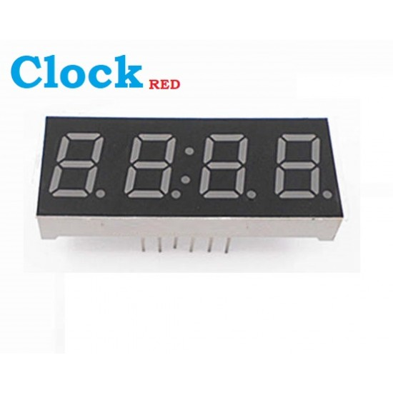"Red Clock 4 Digits 7 Segment Led Display 0.56"" inch Common Cathode KYX-5462BS"