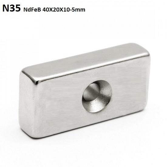 NdFeB NEODYMIUM Magnet Block N35 40X20X10-5mm