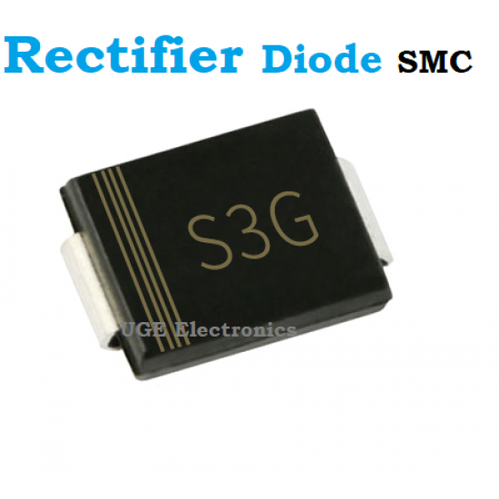 S3G 1N5404 400V 3A Rectifier Diode DO-214AB, SMC