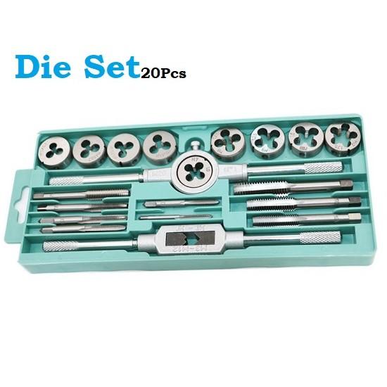 20 Pcs Dies Set M3-M12 Thread Tap Wrench Hand Tools