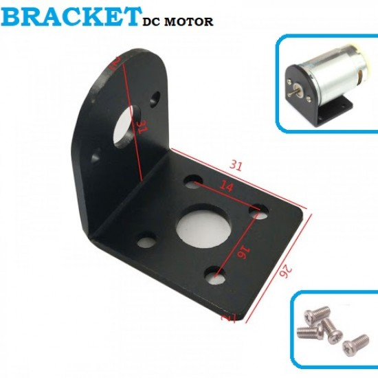 25mm DC Motor Mounting Bracket Gear