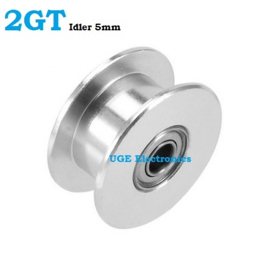 2GT Synchronous Pulley Idler Wheel 5mm Bore Diameter Without Teeth