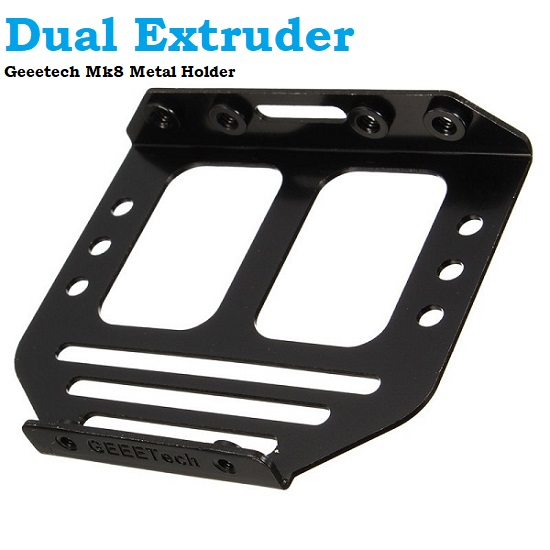 Geeetech Mk8 Dual Extruder Metal Holder For Two Heads 3d Printer