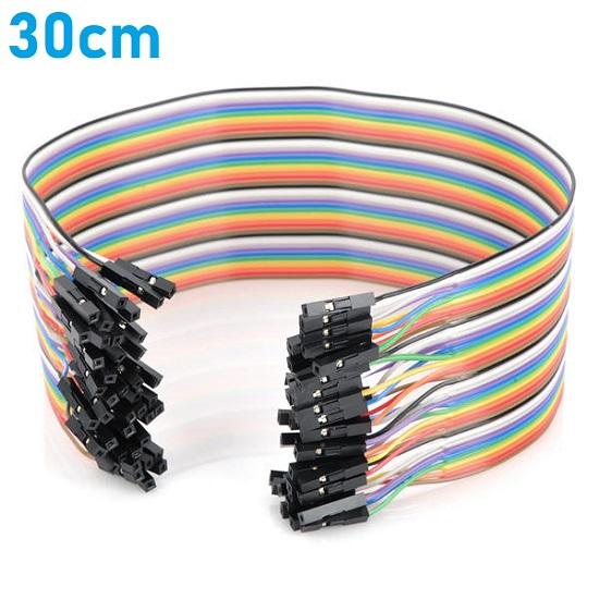 30cm Female - Female Breadboard Jumper Wire for Arduino Fem - Fem Dupont F/F