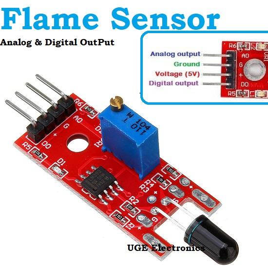 Arduino Flame Sensor 4 pin analog digital OutPut KY-026