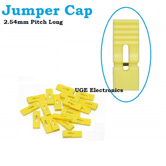 Yellow  Jumper Cap Long Handle Pitch  2.54mm Pin Short-Circuit  14mm Hight