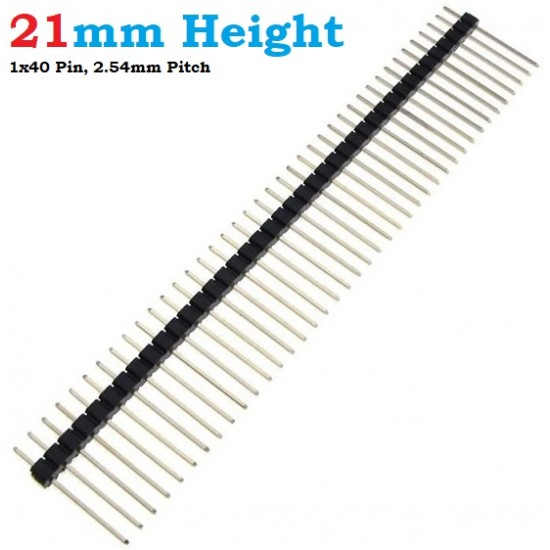 Pin Header 21mm Height Long Pin Male 1x40 Straight 2.54mm pitch