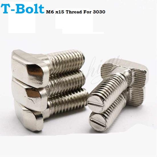 T-Bolt Screw M6 x16 Thread For 3030 aluminum extrusion profile