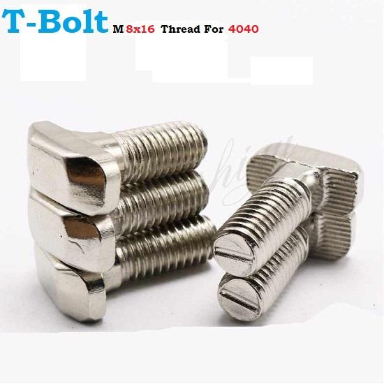 T-Bolt Screw M8 x16 Thread For 4040 aluminum extrusion profile