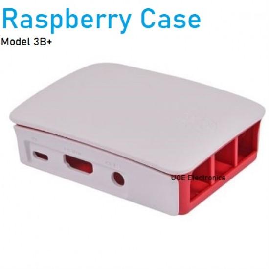 White Red Raspberry Pi 3B Case Box