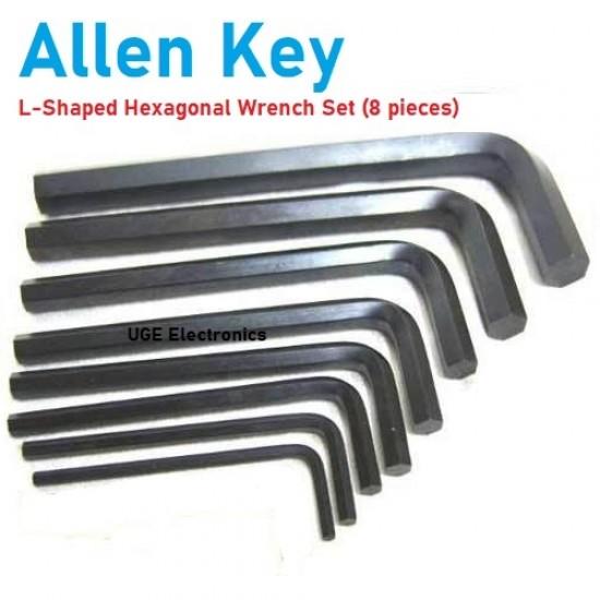 Allen Key Set L Shaped Hexagonal Wrench 8 pieces