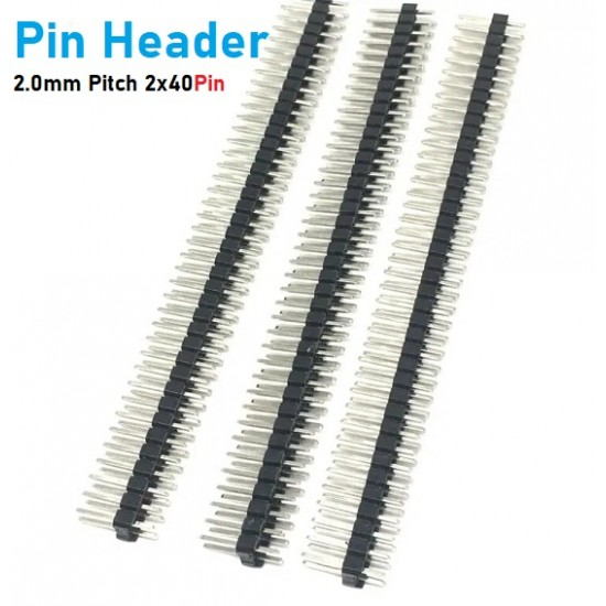 Pin Header Male 2.0mm Pitch 2x40 Pin 8mm Hight