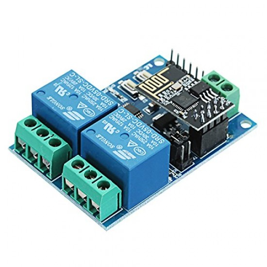 IOT 5V ESP8266 Dual WiFi Relay Module Internet of Things Smart Home Mobile APP Remote Switch