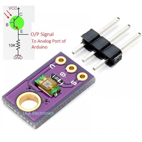 TEMT6000 Ambient Light Sensor | OutPut Analog light intensity Module