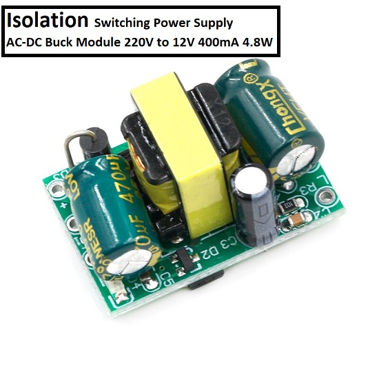 Isolation Switching Power Supply AC-DC Buck Module 220V to 12V 400mA 4.8W